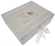 White Cotton Cards New Baby Large Keepsake Box