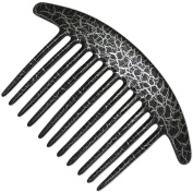 Ebuni | French Pleat Hair Comb - Black / Silver Pouillot design