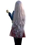 Etruke Long Purple Wave Lolita Lady Synthetic Hair Cosplay Wigs 80cm