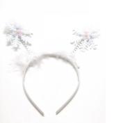 Girls Novelty Christmas Snowflake Deeley Bopper Alice Hair Band Headband