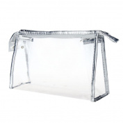Tonsee Transparent PVC Clear Waterproof Makeup Toiletry Travel Wash Cosmetic Bag Pouch