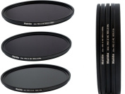 Slim Pro II Digital MC Neutral Density Filter Set Consisting of ND8/ND64/ND1000 Filters 82 mm with Stack Cap Filter Container and Pro Lens Cap with Inner Grip
