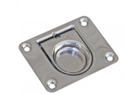 Marine Hatch Lift Handle/pull Ring W/spring for Boat, Caravan, Rv - Stainless Steel - Five Oceans