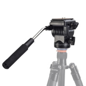 VILTROX Pro YT-950 Tripod Action Fluid Drag Head Ball head Video Camera For DSLR Shooting Filming Hydraulic Damping 0.6cm 1cm Head+2 Quick Release Plate