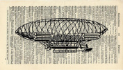 VINTAGE AIRSHIP ART PRINT - STEAMPUNK ARTWORK - VINTAGE ART PRINT - VINTAGE Art - TRAVEL Illustration - GIFT - Vintage Dictionary Art Print - Wall Hanging - Home Décor - Housewares -Book Print - 381Bf