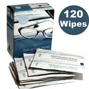 *BULK BUY* ~ 4 BOXES CONTAINING 30 = 120 Optical Lens Smear Free Wipes Spectacle Cleaner, Mobile Phone , Camera , Binoculars , Helmet Visors.