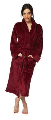 Ladies Luxury Dressing Gown Berry Size Large