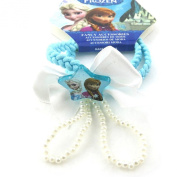 Bracelet 'french touch' 'Frozen - Reine Des Neiges'turquoise.