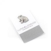 Frog pewter pin badge by Luna London, UK. Gift