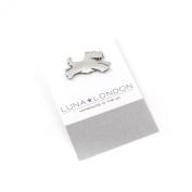 Scottie Dog pewter pin badge by Luna London, UK. Gift