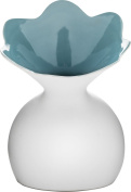 Sagaform Lily Vase with Blue Accent, Large