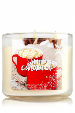 Bath and Body Works Scented 3 Wick Candle 430ml Salted Caramel