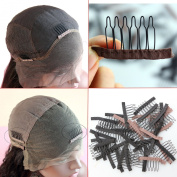 Dreamhair Anti-Rust Wig Combs for Making Wig 25pcs/pack Wig Combs for Lace Wig and Hair