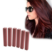 Burgundy Marsala Hair Dye | PLUM RED Temporary Hair Colour | With Shades of Brick Brown Set of 6 Temporary Hair Dye | Colour your Hair Burgundy in seconds with temporary HairChalk