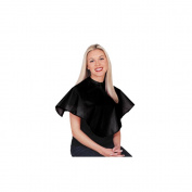 Scalpmaster Nylon Comb-Out Cape 70cm X 70cm hook and loop Black