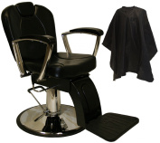 LCL Beauty Classic Style Reclining Hydraulic Lift Reclining Barber Salon Chair Spa Equipment