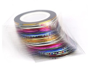 38Pcs Mixed Colours Rolls Striping Tape Line Nail Art Tips Decoration Sticker from Breeze Style