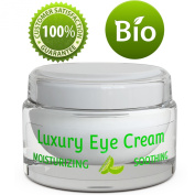 Pure and Natural Eye Cream for Sensitive Skin - Reduces Wrinkles, Puffiness, Lines and Dark Circles - Hypoallergenic Formula for Men & Women
