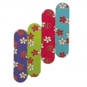 Adorox Pack of 12 Mini Emery Boards Nail Manicure & Pedicure File Floral Hawaiian