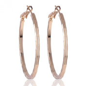 GULICX 18k Gold Plated Party Sexy Women Girl Creole Hoop Earrings Fashion Jewellery