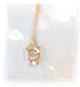PRESKIN - Wonderful necklace with sweet cat pendant with pearl, gold-plated,