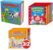 Mini Library Board Books - Bumper End of Season Sale - Special Gift Pack for Toddlers, Children, Babies - Nursery Rhymes Board Book - Fairy Board Book - Animals Board Book Mini Library - 18 Board Books Collection Set - RRP £15.96 - Yours for Jus ..