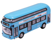Toys Cars Alloyed Double-Decker Bus Car Model Toy Cars Boys Gifts, Blue