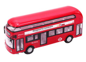 Toys Cars Alloyed Double-Decker Bus Car Model Toy Cars Boys Gifts, Red