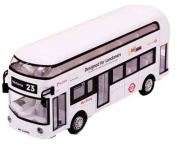 Toys Cars Alloyed Double-Decker Bus Car Model Toy Cars Boys Gifts, White