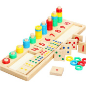 LAOO SA Wooden Count & Match Numbers toys