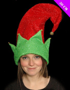 Giant ELF Hat Christmas Red And Green 50cm Hat Fancy Dress Accessory