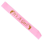 It's A Girl Sash Baby Shower Party Decoration Pink