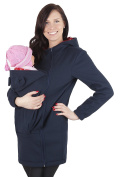 Mija - Maternity Polar warm fleece Hoodie / Pullover for two / for Baby Carriers 3073A