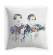 Phil Lester and Dan Howell Pillowcases Custom 46cm x 46cm Two Sides Cool Comfortable Pillow Case
