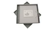 white cotton cards Bat Mitzvah Card and Memory Book Jewish Gift