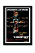 James Bond Goldfinger Excitement A3 Framed Print