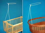 HOLDER FOR MOSES BASKET SWINGING CRIB DRAPE CANOPY MOSQUITO ROD BAR CLAMP POLE
