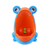 Hintel Colourful Frog Boys Potty Training Urinal with Whirling Target - Use a Baby Boy Urinal, Making It Fun, Easy Stress Free to Potty - Blue