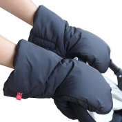 Stroller Accessories Winter Waterproof Anti-freeze Pram Hand Muff Extra Thick Warm Pushchair Gloves Baby Carriage Hand Cover