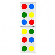 12 Colourful Circles - Blue, Yellow, Red and Green Waterproof Fridge Kitchen Sticker 20cm x 20cm each