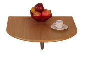 Moebel Online Wall Table Folding Table Wall Mounted Kitchen Table Space Saving Table To Fold Down Available In 2 Colours - Plate beech effect, 17cm x 60cm x 23.160cm , MDF board