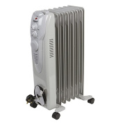 Igenix IG1650 7 Fin Oil Filled Radiator with Three Heat Settings, 1.5 kW - White