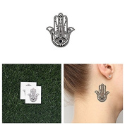 Tattify Hamsa With Eye Temporary Tattoo - Cover Up