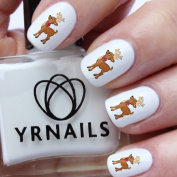 Cartoon Christmas Reindeer Nail Decals by YRNails