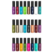 24 High Quality Assorted Mixed Colour Fashionable Metallic Matt Bold Nail Polishes Varnishes for Nail Art Set by Kurtzy TM