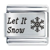 Let It Snow Christmas Italian Charm Fits Nomination Classic