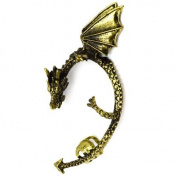 Elixir77UK Antique Gold Colour Dragon Snake Cuff Cartilage Wrap Non Pierced Left Ear Earring UK SELLER