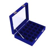 Meshela Velvet Glass Jewellery Ring Display Organiser Box Tray Holder Earrings Storage Case