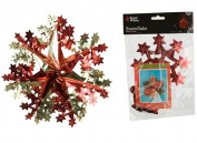 41cm Red And Gold Hanging Foil Snowflake Christmas Decoration