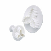Kitchen Craft Sweetly Does It Holly Fondant Plunger Cutters, Set of 2